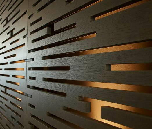 Lattice Panels Showcasing Installed Some With Stainless Steel Lines Between Without And Other Colors In