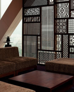 lattice wall divider