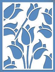 Lattice Panel: Tulips